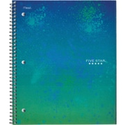 "Five Star Style 2-Subject Notebook,  6"" x 9-1/2"", Assorted, 200 Pages"