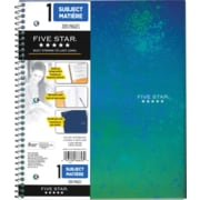 "Five Star Style 1-Subject Notebook,  8-1/2"" x 11"", Assorted, 200 Pages"