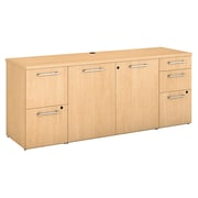 "Bush Business Furniture Emerge 72""W x 22""D Storage Credenza, Natural Maple (300SCST72ACK)"