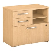 "Bush Business Furniture Emerge 30""W File Cabinet, Natural Maple (300SFP30AC)"