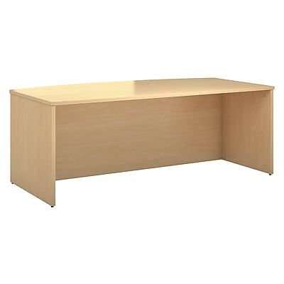 Bush Business Furniture Emerge 72W Bow Front Desk, Natural Maple (300SSDBF72ACK)