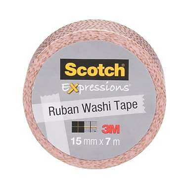 Expressions Scotch® – Ruban en papier washi, rose/points dorés