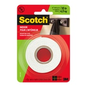 Scotch® Indoor Mounting Tape 214DC-SFEF, 1.0 in x 55 in (25.4 mm x 1.39 m)