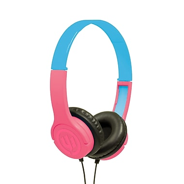 Wicked Audio Rad Rascal Kids On-Ear Headphones, BubbleGum (WI312)