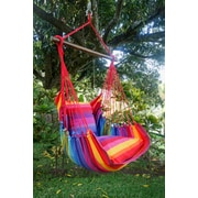 Henryka Large Hammock Swing With Two Cushions, 100% Cotton, Multicolour (HC-10160)