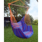 Henryka Large Hammock Swing With Two Cushions, 100% Cotton, Multicolour (HC-10278)