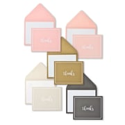 Gartner Studios Peach, Rose, Gold, Silver and Black Thank You Card Assortment, 50/Pack