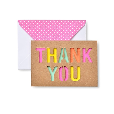 Gartner Studios Bright Cut Out And Polka Dot Thank You Cards 15