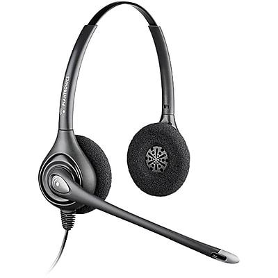 plantronics h261n supra plus binaural headset with noise canceling rh staples com