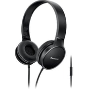 Panasonic Lightweight On-Ear Headphones with Mic and Controller, Black, RP-HF300M-K