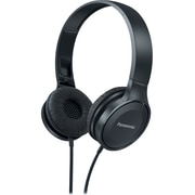 Panasonic Lightweight On-Ear Headphones with Mic + Controller, Black, RP-HF100M-K