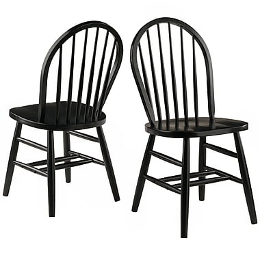 Winsome Wood Windsor Chair 2-Piece Set  sc 1 st  Staples & Winsome Wood Windsor Chair 2-Piece Set | Staples