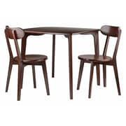 Winsome Wood Pauline 3-Piece Set Dining Table with 2 Chairs (94372)
