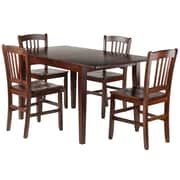 Winsome Wood Anna 5-Piece Dining Table Set with Slat Back Chairs (94552)