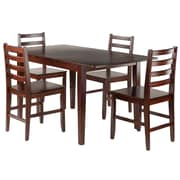 Winsome Wood Anna 5-Piece Dining Table Set with Ladder Back Chairs (94566)