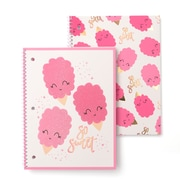 Gartner Studios So Sweet Notebooks with Glitter and Foil Accents, 2/Pack