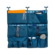 Honey Can Do 2-in-1 Bed Organizer, Blue Flannel
