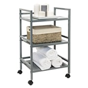 Honey Can Do 3-Tier Metal Rolling Cart, Grey