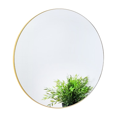 Sabi by Honey Can Do Mirror, Yellow