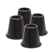 Honey Can Do 6-inch Round Bed Risers, Black