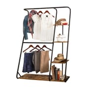 Honey Can Do Rustic Z-Frame Wardrobe with Shelves