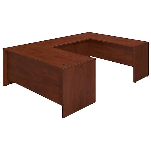 Bush Business Furniture Westfield Elite 72W x 30D U Shaped Desk, Hansen Cherry, Installed (SRE100HCFA)