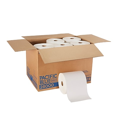 Pacific Blue Select™ Premium Paper Towel Roll by GP PRO, 2-Ply, White, 350 Feet/Roll, 12 Rolls/Carton (28000)
