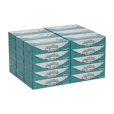 Angel Soft Professional Series® Premium 2-Ply Facial Tissue by GP PRO, Flat Box, 100 Sheets/Box, 30 Boxes/Carton (48580)
