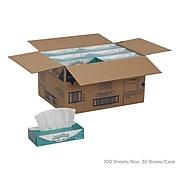Angel Soft Professional Series Facial Tissue, 2-Ply, White, Flat Box, 100 Sheets/Box, 1 Box/Pack (48580)