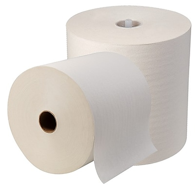 SofPull® High-Capacity Recycled Paper Towel Roll by GP PRO, White, 1000' Per Roll, 6 Rolls/Case (26470)