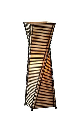 Adesso Stix Table Lantern, Twisted Black Cane Stick Frame (4045-01 )