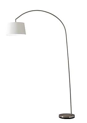 Adesso® 5098-22 Goliath Arc Lamp, 1 x 150 W, Satin Steel