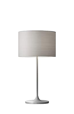 Adesso Oslo Table Lamp, White Finish (6236-02)