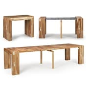 Transformer Hardwood Extendable Office and Dining Table, Savana (1201000001)