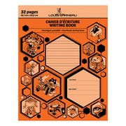 "Louis Garneau Exercise Book, Interlined-Dotted, 9-1/4"" x 7-1/4"", 32 Pages, Orange (LG10OR)"