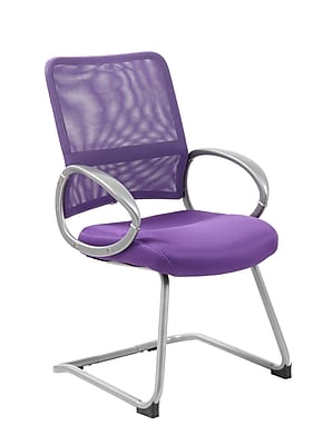 Boss Mesh Back with Pewter Finish Guest Chair (B6419-PR)