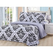 Dream Bedding Rich Printed Pinsonic Reversible 6-Piece Sheet and Quilt Set, Queen (QS-PQS2-Q)