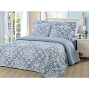 Dream Bedding Rich Printed Pinsonic Reversible 6-Piece Sheet and Quilt Set, King (QS-PQS3-K)