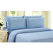 Bamboo Living Solid 2-Piece Bamboo Duvet Cover Set, Light Blue, Twin (DC-S3PCBB-LB-T)