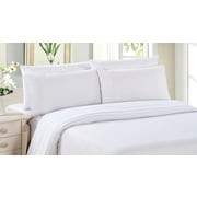 Bamboo Living Solid 3-Piece Bamboo Duvet Cover Set, White