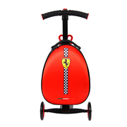 KOOL KARZ Ferrari 3 Wheel Folding Luggage Scooter, Red