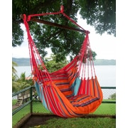 Henryka Large Hammock Swing With Two Cushions, 100% Cotton, Multicolour (HC-10274)
