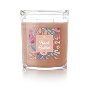 Colonial Candle CC0225401 22 Oz Peach Bellini 2 Wick Candle In Oval Jar