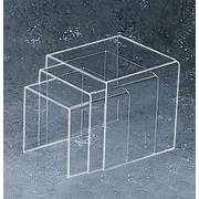 "Tripar International TR232143 3-Piece Clear Acrylic Square Riser Set, 7"", 8"" and 9"""