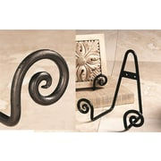 Tripar International TR43012 Large Charcoal Scroll Stand For Wall or Table Top, 4/Pack