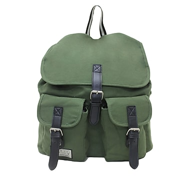 Renwick Grey and Army Green Assorted Canvas Backpack