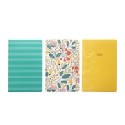 Pierre Belvedere Notebook Trio, Yellow Cover, 80 Pages Each, 3/Pack (61152574863)