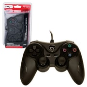 TTX Tech USB Wired Black Controller for PlayStation 3
