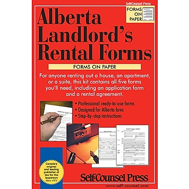 Self Counsel Press Alberta Landlord S Rental Forms Staples