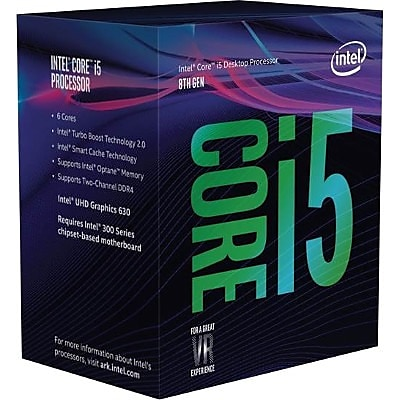 Intel Core i5 i5-8400 Hexa-core (6 Core) 2.80 GHz Processor, Socket H4 LGA-1151, Retail Pack